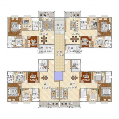 清华苑9室4厅6卫4厨600.00㎡户型图