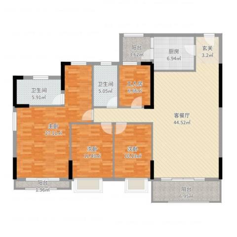 信德上城3室2厅2卫1厨163.00㎡户型图