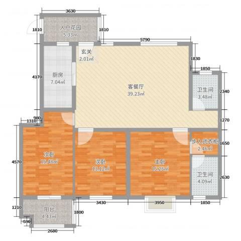紫薇壹�二期3室2厅2卫1厨138.00㎡户型图