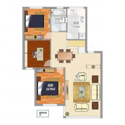高塘花园2室1厅1卫1厨110.00㎡户型图