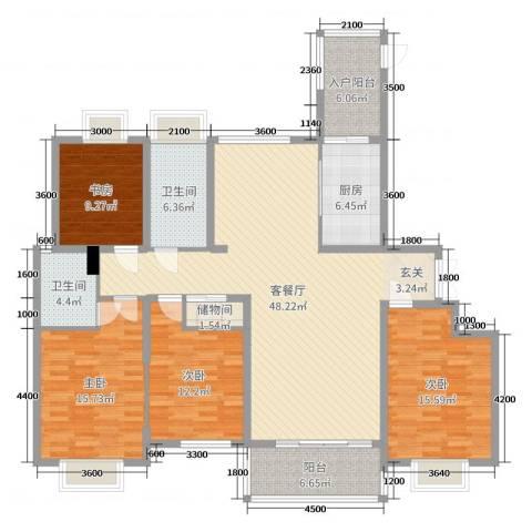 外滩首府4室2厅2卫1厨225.00㎡户型图