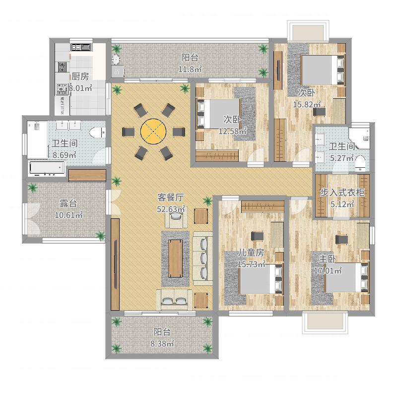 理想户型--国华21-0802设计图