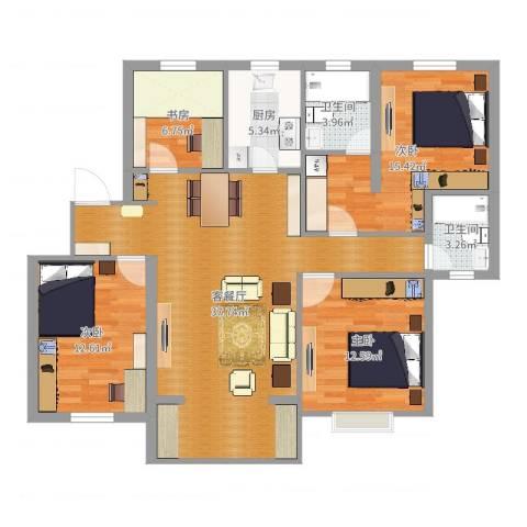上海方舟休闲广场4室2厅2卫1厨122.00㎡户型图