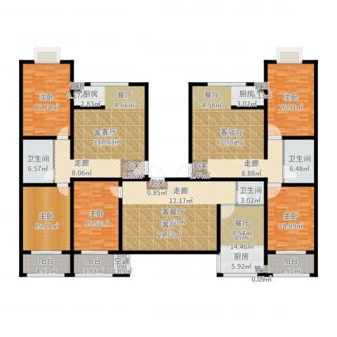 戴河新城5室6厅3卫1厨288.00㎡户型图