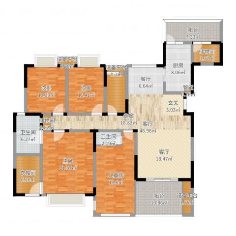 天府欣苑4室1厅2卫1厨207.00㎡户型图