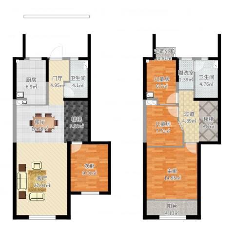 天朗蔚蓝东庭4室2厅4卫1厨138.00㎡户型图