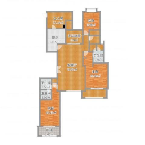 嘉御庭200平方米3室2厅3卫1厨151.41㎡户型图