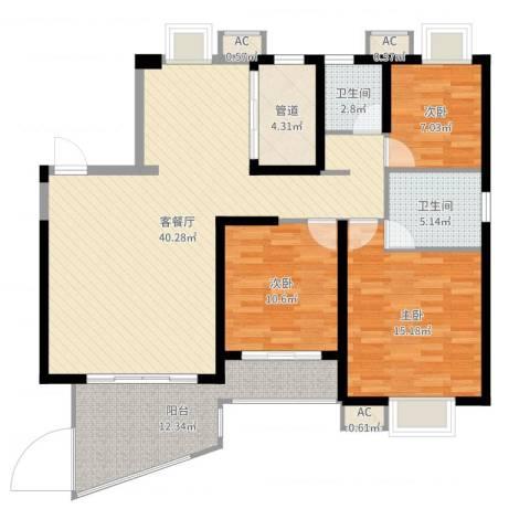 天湖城天源4室2厅4卫1厨124.00㎡户型图
