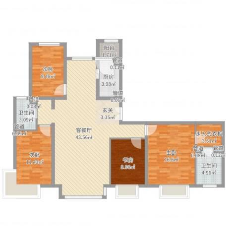 厦航高郡4室2厅2卫1厨135.00㎡户型图