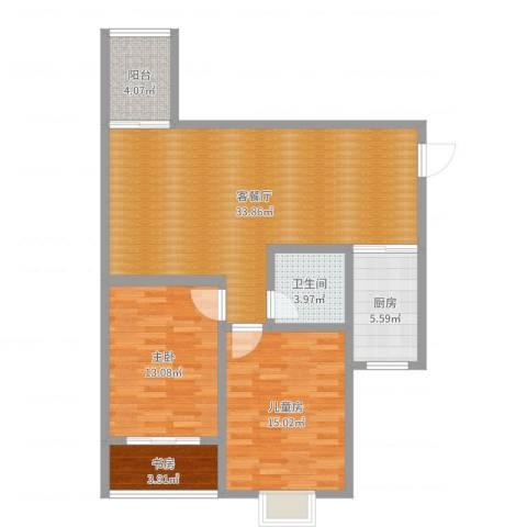锦绣年华3室2厅1卫1厨99.00㎡户型图