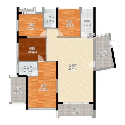 红豆美墅4室2厅2卫1厨162.00㎡户型图