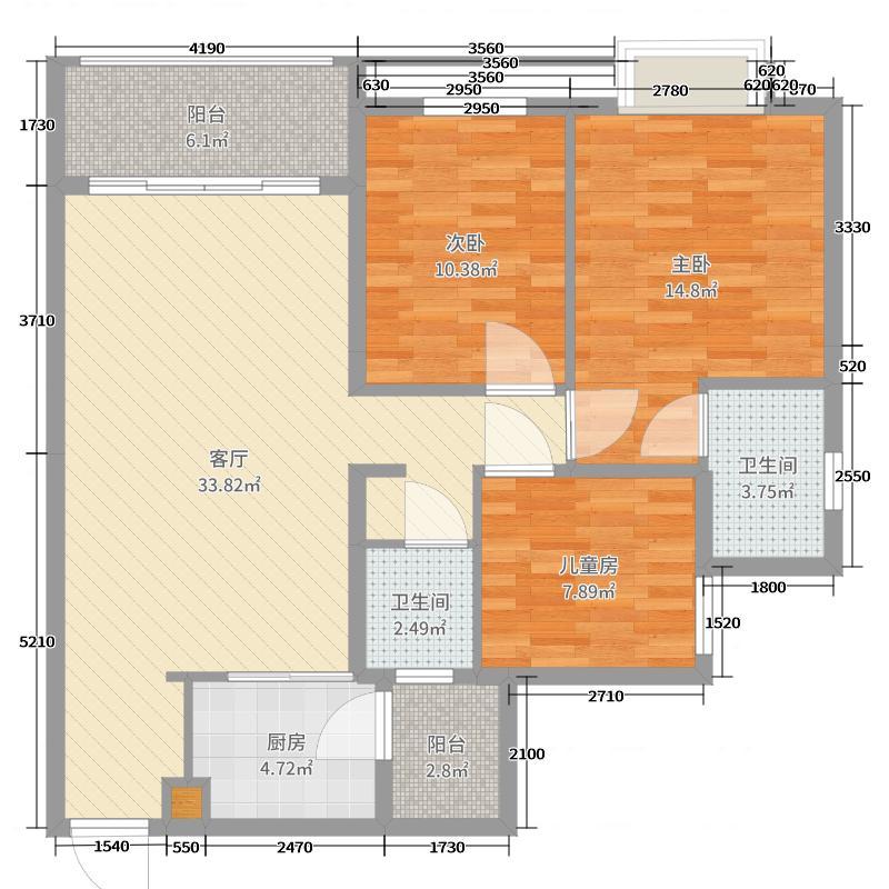 同顾中央工园8-203(龙州)