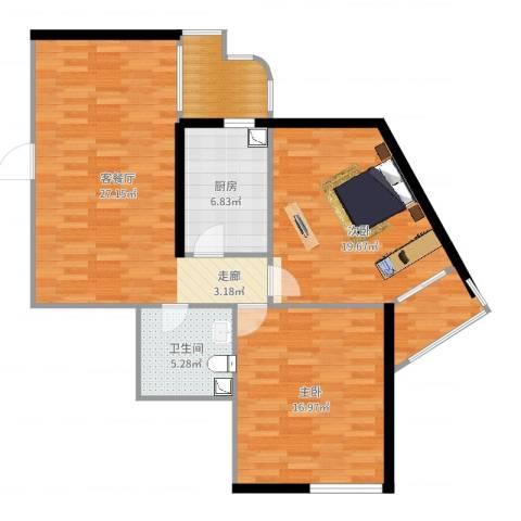 黎明新座2室2厅1卫1厨109.00㎡户型图