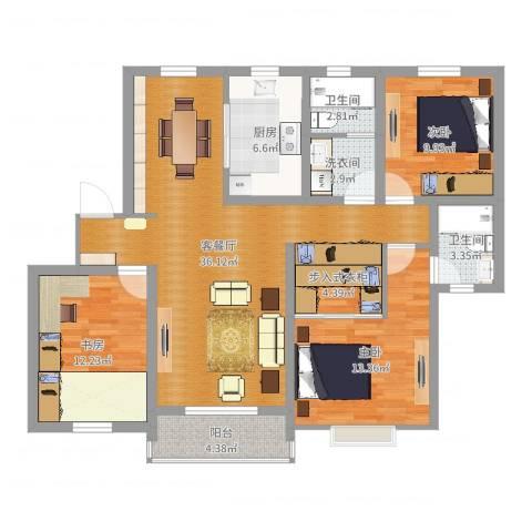 上海方舟休闲广场3室2厅2卫1厨120.00㎡户型图