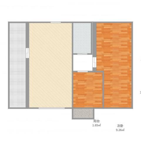 福临家园2室1厅1卫1厨105.00㎡户型图
