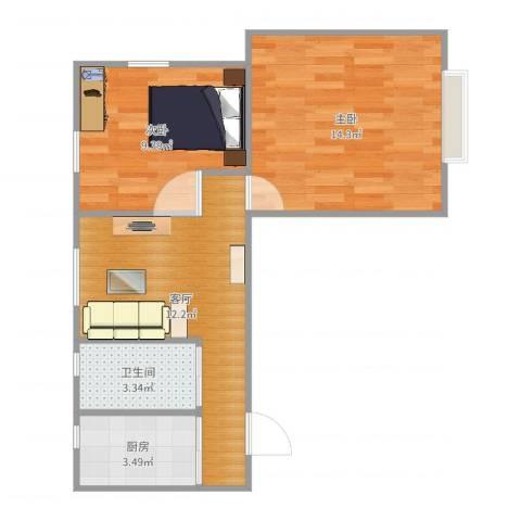 茅台新苑2室1厅1卫1厨53.00㎡户型图