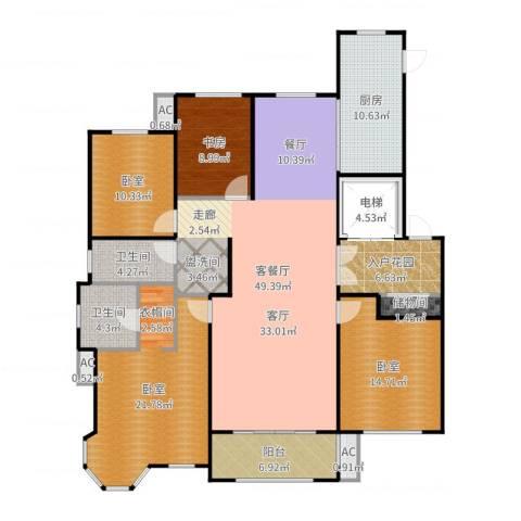 凡尔赛颐阁二期1室2厅2卫1厨183.00㎡户型图
