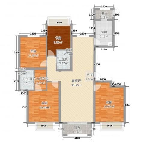 香醍溪岸4室2厅2卫1厨158.00㎡户型图