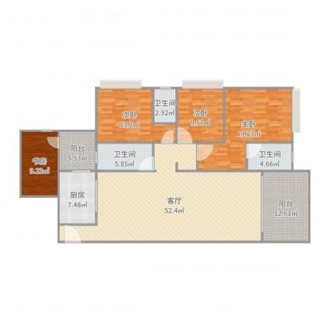 雍和花园4室1厅3卫1厨178.00㎡户型图