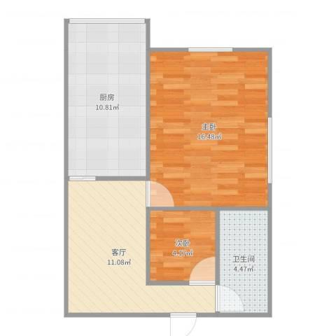 孚泰公寓2室1厅1卫1厨59.00㎡户型图