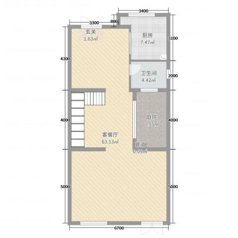 富盈加州阳光2厅1卫1厨216.00㎡户型图
