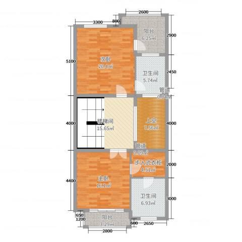 富盈加州阳光2室0厅2卫0厨216.00㎡户型图