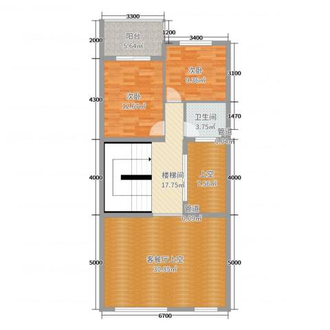 富盈加州阳光2室0厅1卫0厨216.00㎡户型图