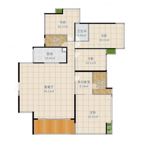 依云上城4室2厅4卫1厨243.00㎡户型图