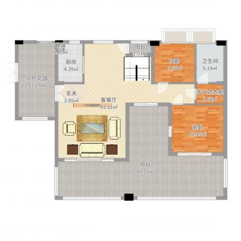 江苏油田石油山庄2室2厅1卫1厨163.00㎡户型图