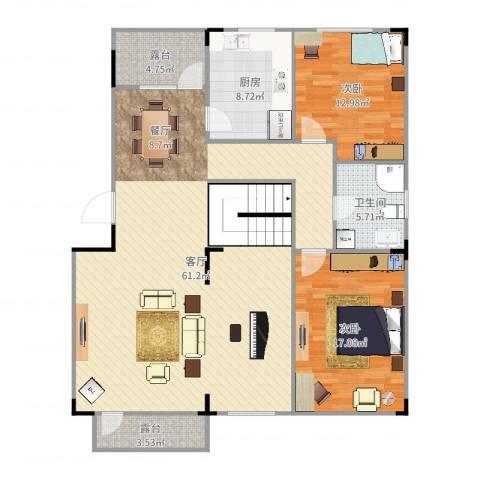 保利林语2室1厅1卫1厨215.00㎡户型图
