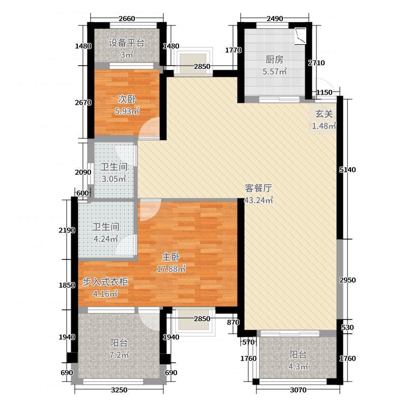 中梁壹号院118.00㎡Z4户型4室4厅2卫1厨