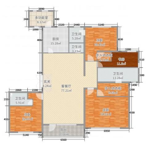 万达海公馆4室2厅4卫1厨300.00㎡户型图