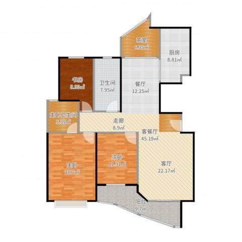 盛世钱塘3室2厅1卫1厨154.00㎡户型图