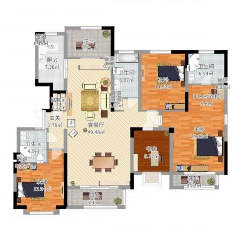 漫山香墅4室2厅3卫1厨191.00㎡户型图
