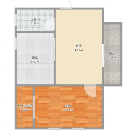 御墅林峰1室1厅1卫1厨56.00㎡户型图