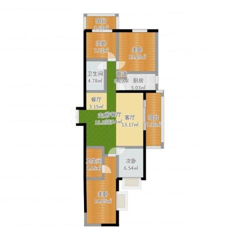 太乙城4室2厅2卫1厨123.00㎡户型图