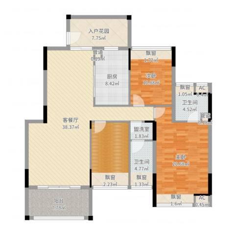 御泉山2室2厅2卫1厨147.00㎡户型图