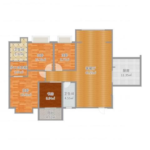 君悦上城4室2厅2卫1厨153.00㎡户型图