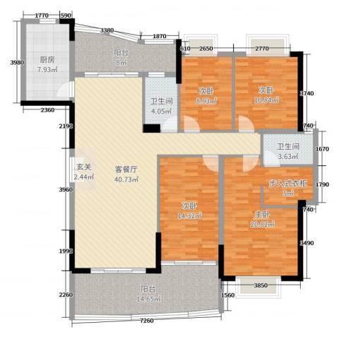 富逸上苑4室2厅2卫1厨167.00㎡户型图