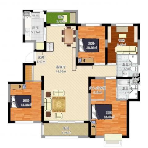 赛德馨苑4室2厅2卫1厨149.00㎡户型图