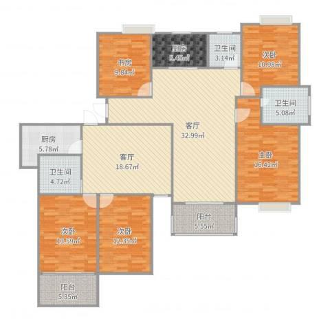 玉成家园5室2厅3卫2厨187.00㎡户型图