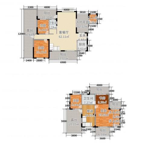 华韵城市海岸二期4室2厅2卫1厨291.00㎡户型图