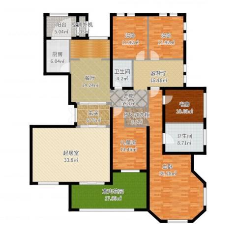 东岸国际5室2厅2卫1厨251.00㎡户型图