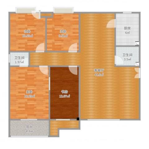 陕西商南县雅都花园4室2厅2卫1厨140.00㎡户型图