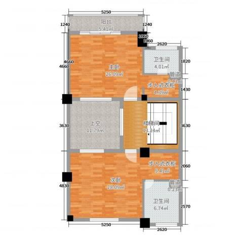 一米阳光・快乐家园2室0厅2卫0厨240.00㎡户型图