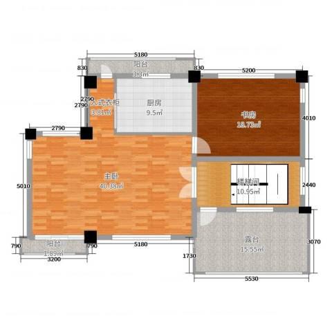 一米阳光・快乐家园2室0厅0卫1厨388.00㎡户型图
