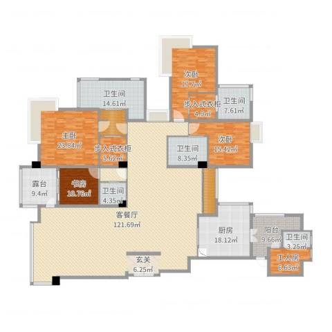 绿洋山庄4室2厅5卫1厨364.00㎡户型图