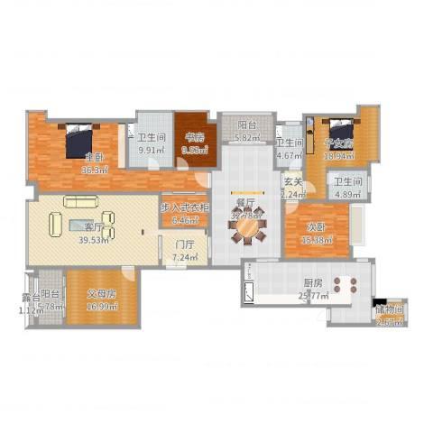 丹阳恒大名都3室2厅3卫1厨308.00㎡户型图