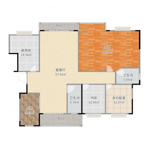 和顺苑2室2厅2卫1厨212.00㎡户型图