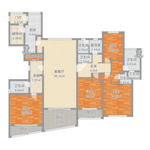 裕沁庭4室4厅6卫1厨249.00㎡户型图